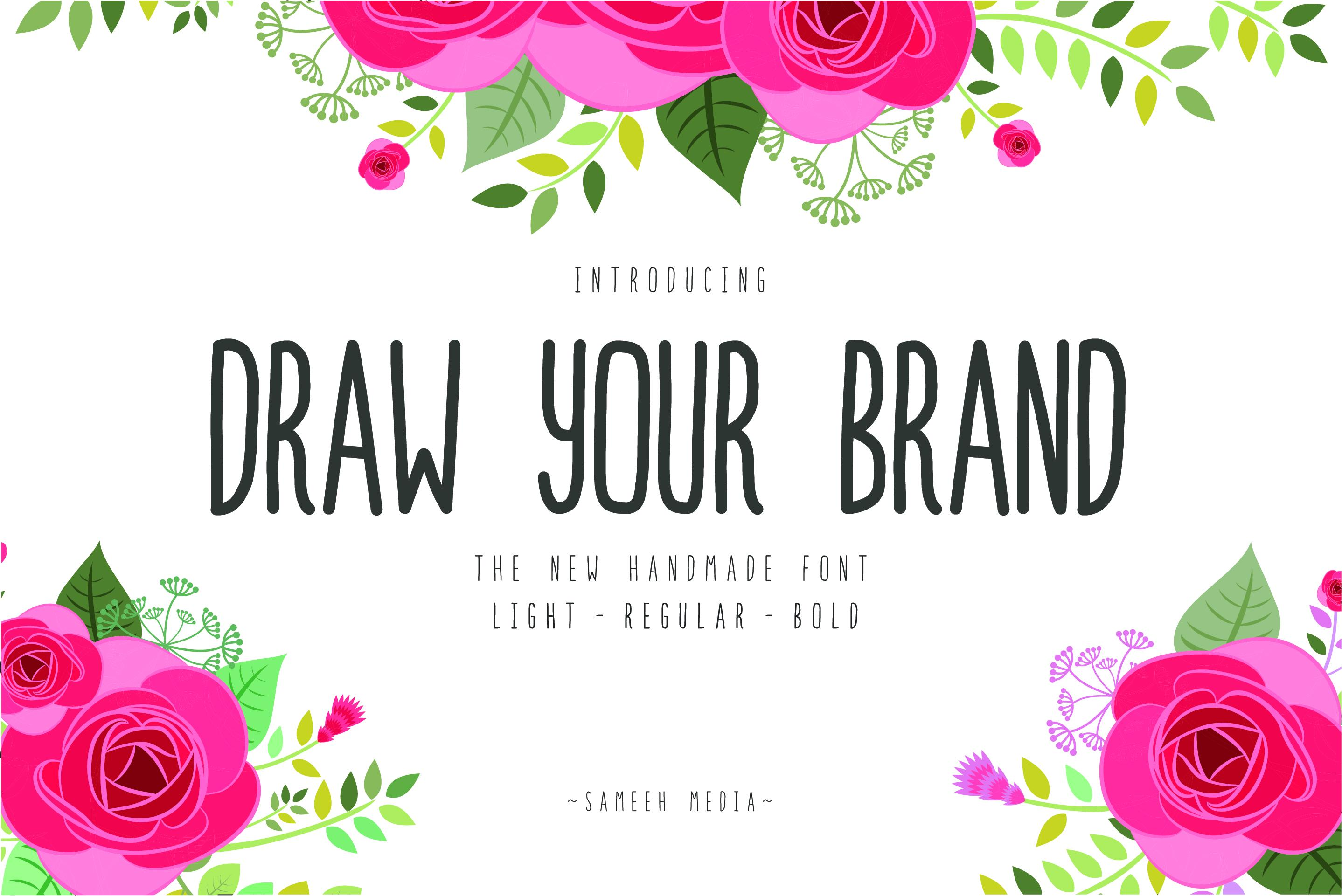 HURRY!! Draw Your Brand Handmade example image 1