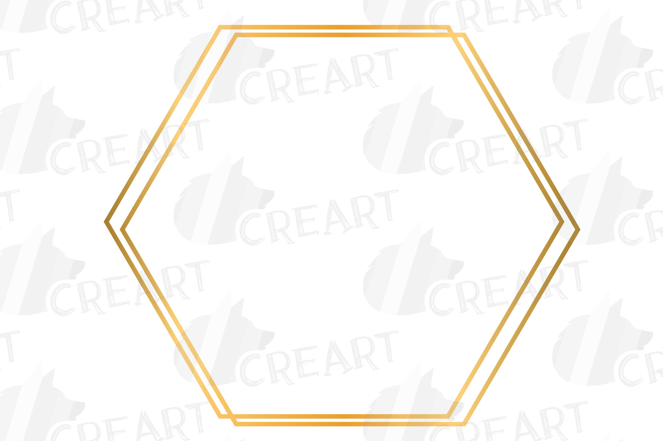 Golden geometric frames clip art. Wedding invite geo borders example image 8