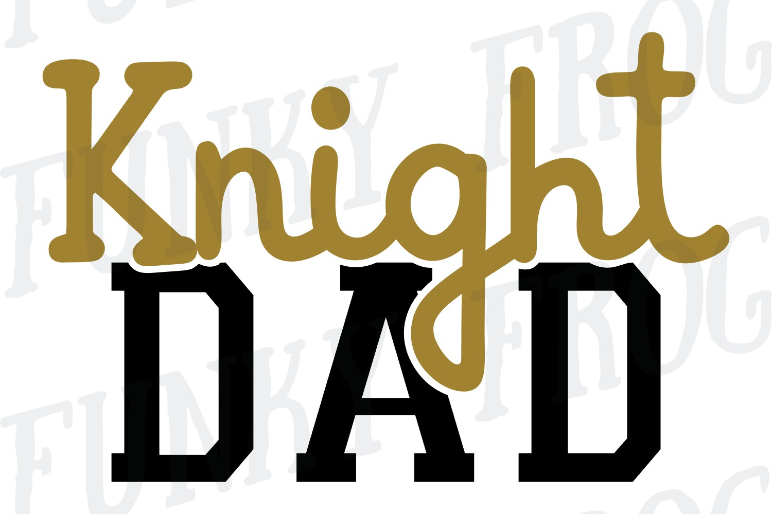 Knight Dad and Knight Mom SVG Cut File for Crafters example image 3