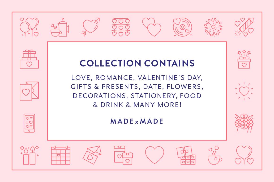 Line Icons  Valentines example image 2