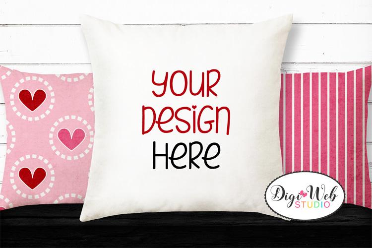 12 Valentine Mockups Bundle -Wood Signs, Pillows, Cards, Mug example image 13