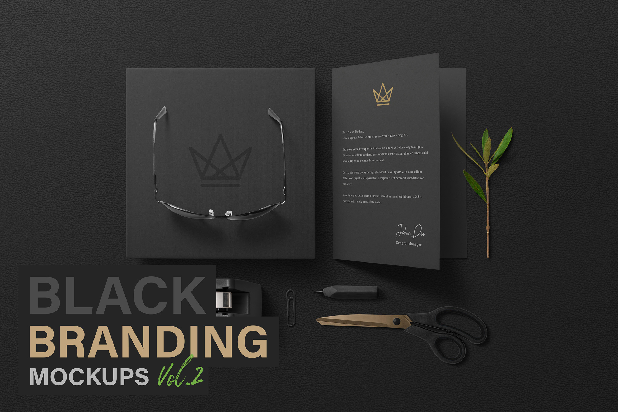 Black Branding Mockups Vol.2 example image 1