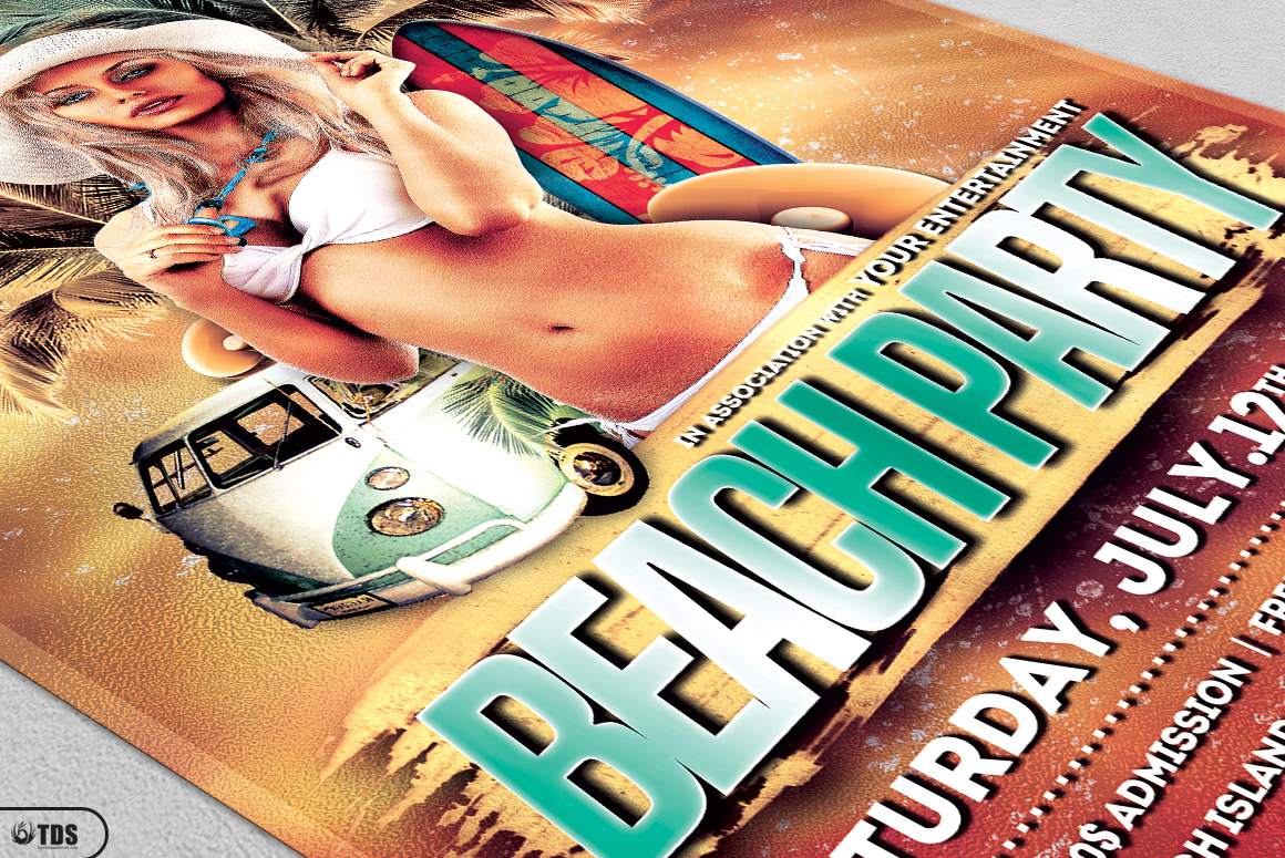 Beach Party Flyer Bundle V1 example image 10