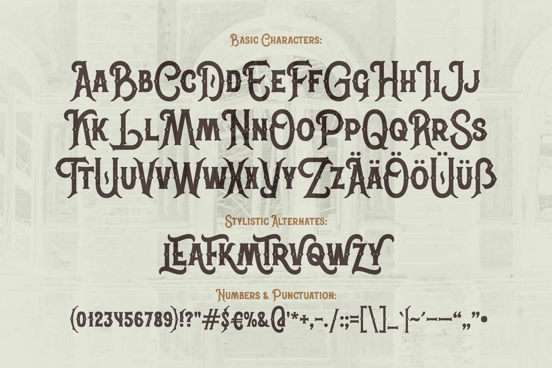 Classic Heritage typeface example image 4