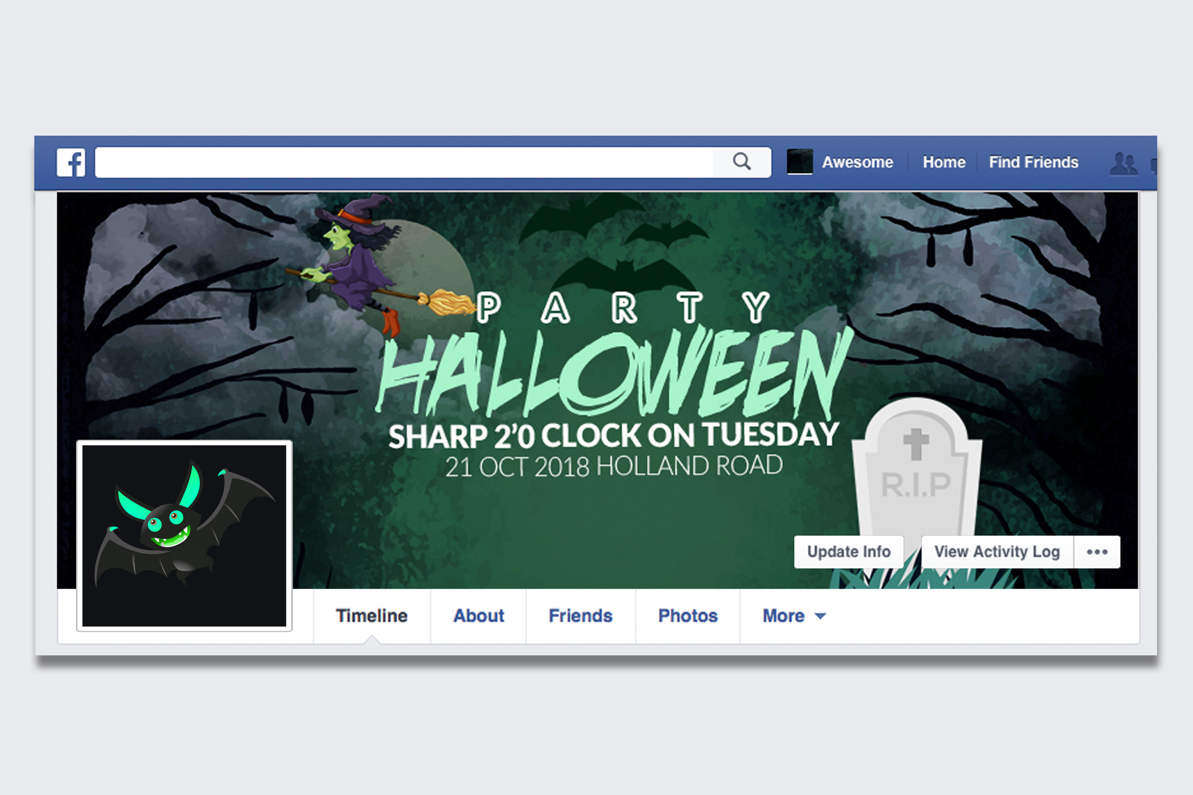 10 Halloween Facebook Timeline Cover Bundle example image 11