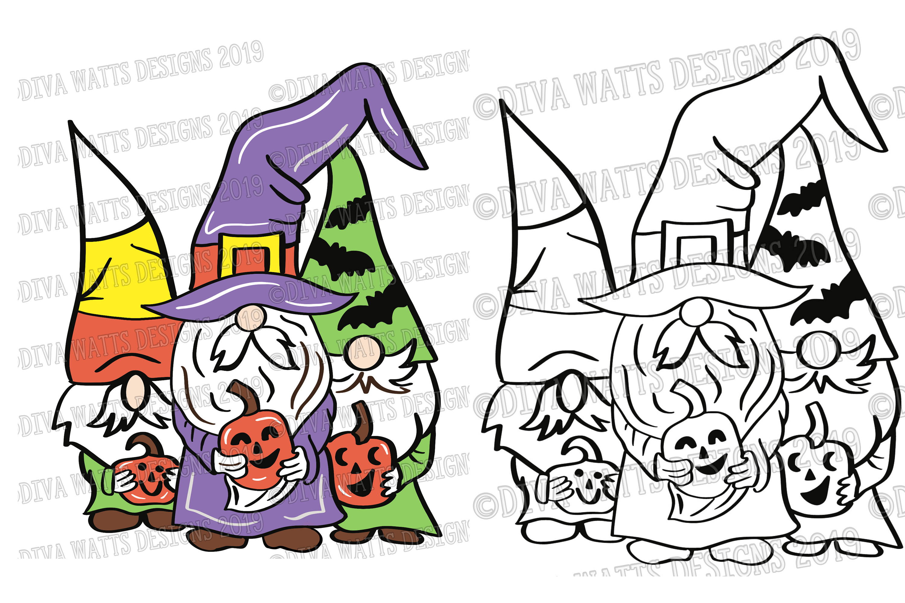 Halloween Gnomes Gnome Crew Cutting File example image 2