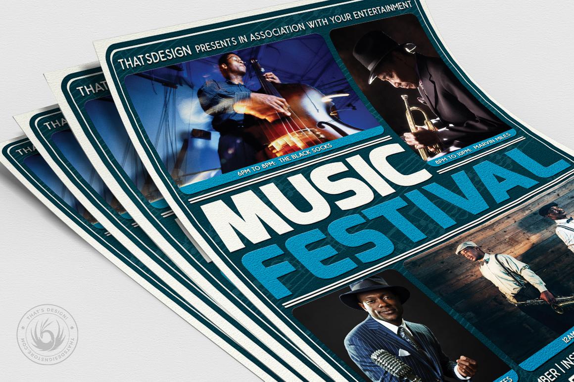 Music Festival Flyer Template V5 example image 5
