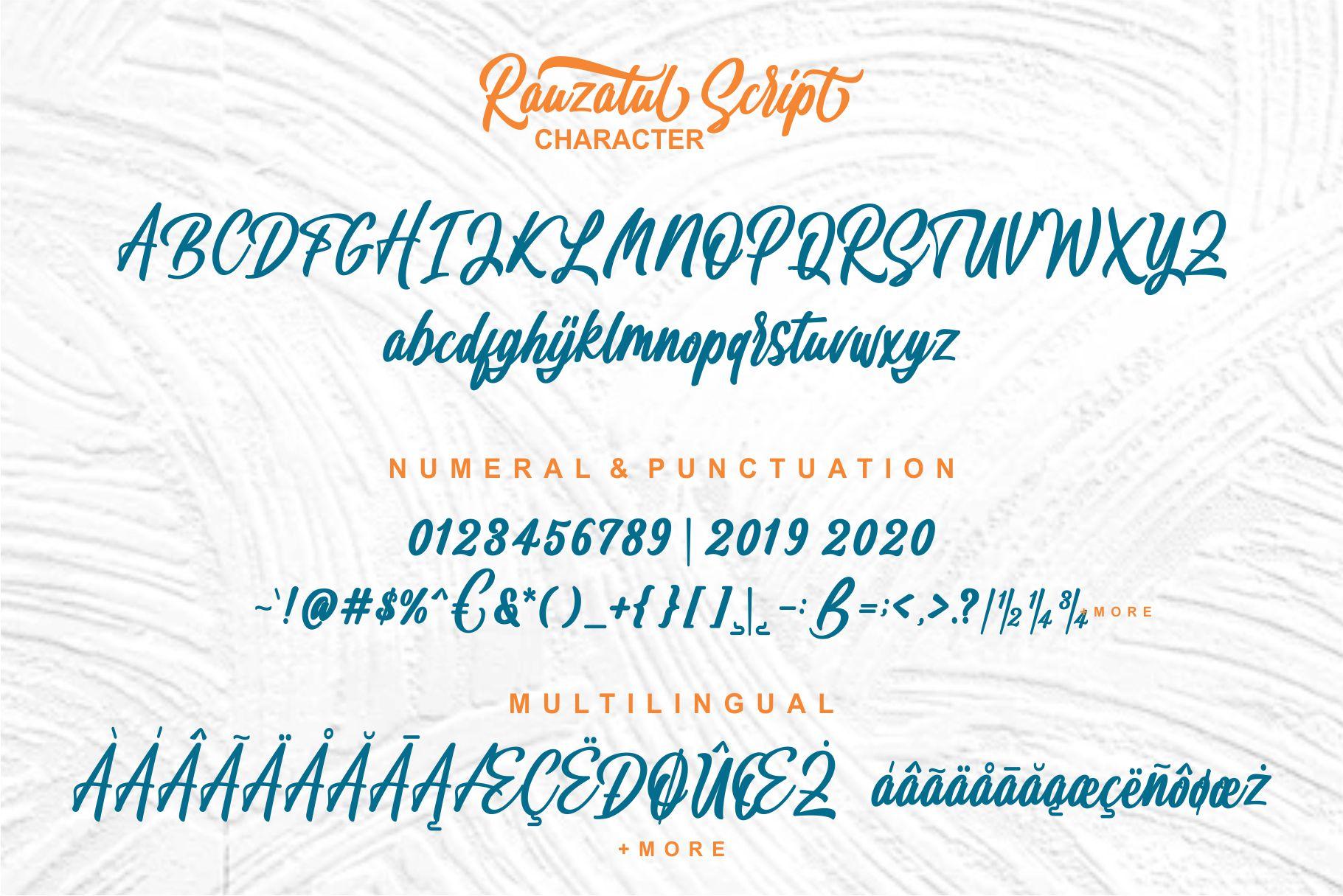 Rauzatul Script | Modern Stylish Font example image 7