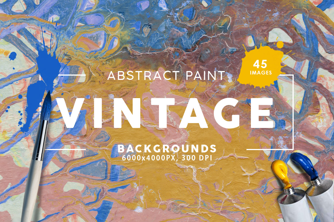 Vintage Abstract Paint Backgrounds example image 1