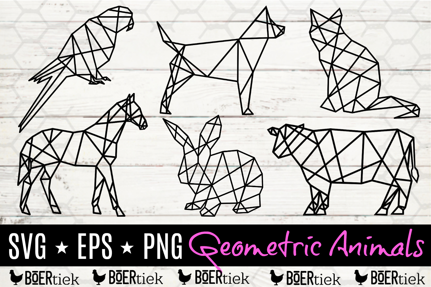 Geometric animal bundle example image 1