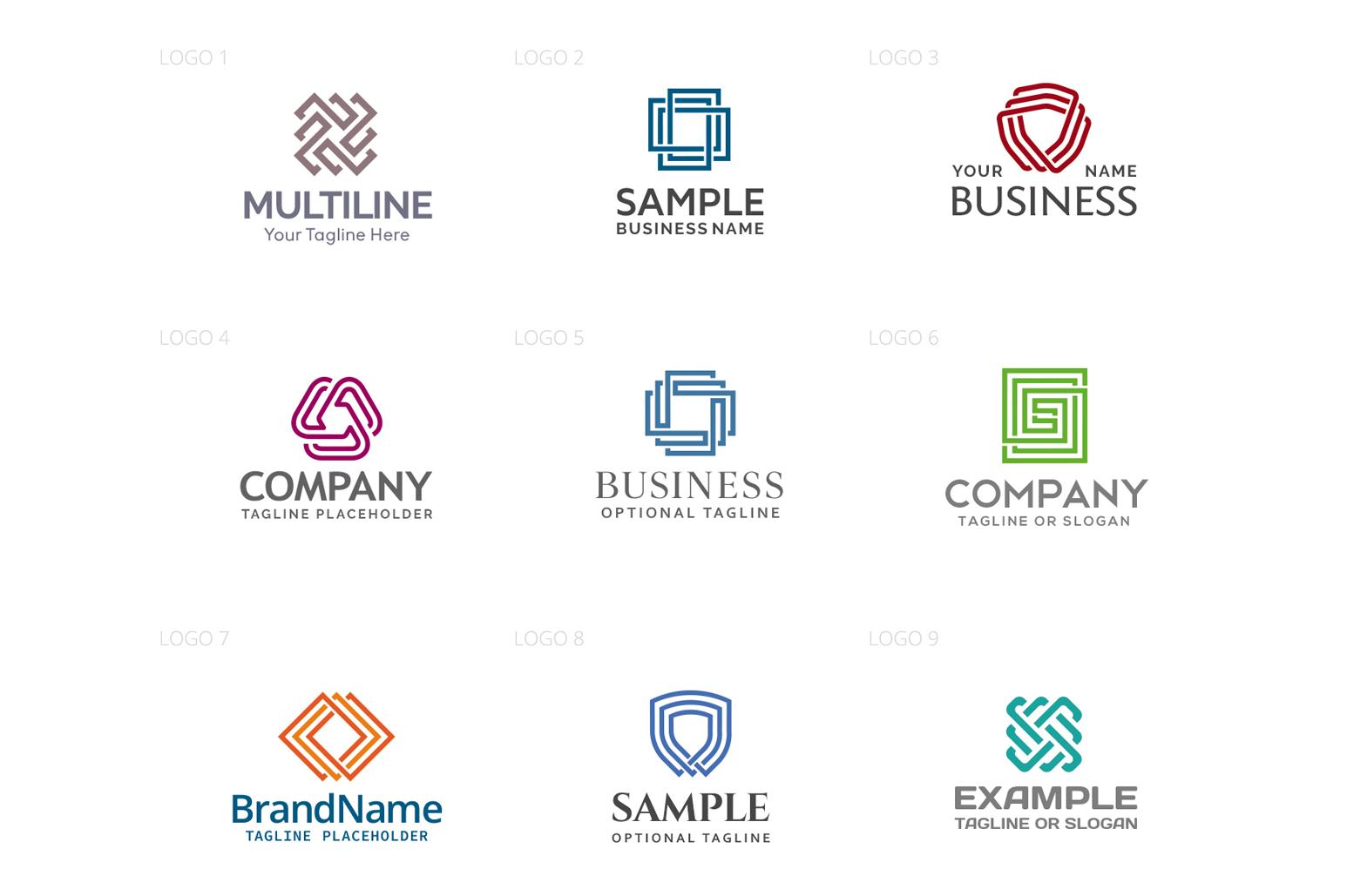 Multiline Logo Design Bundle example image 2