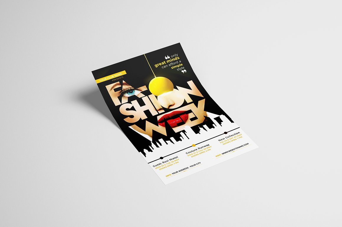 Fashion Week Flyer Template example image 2