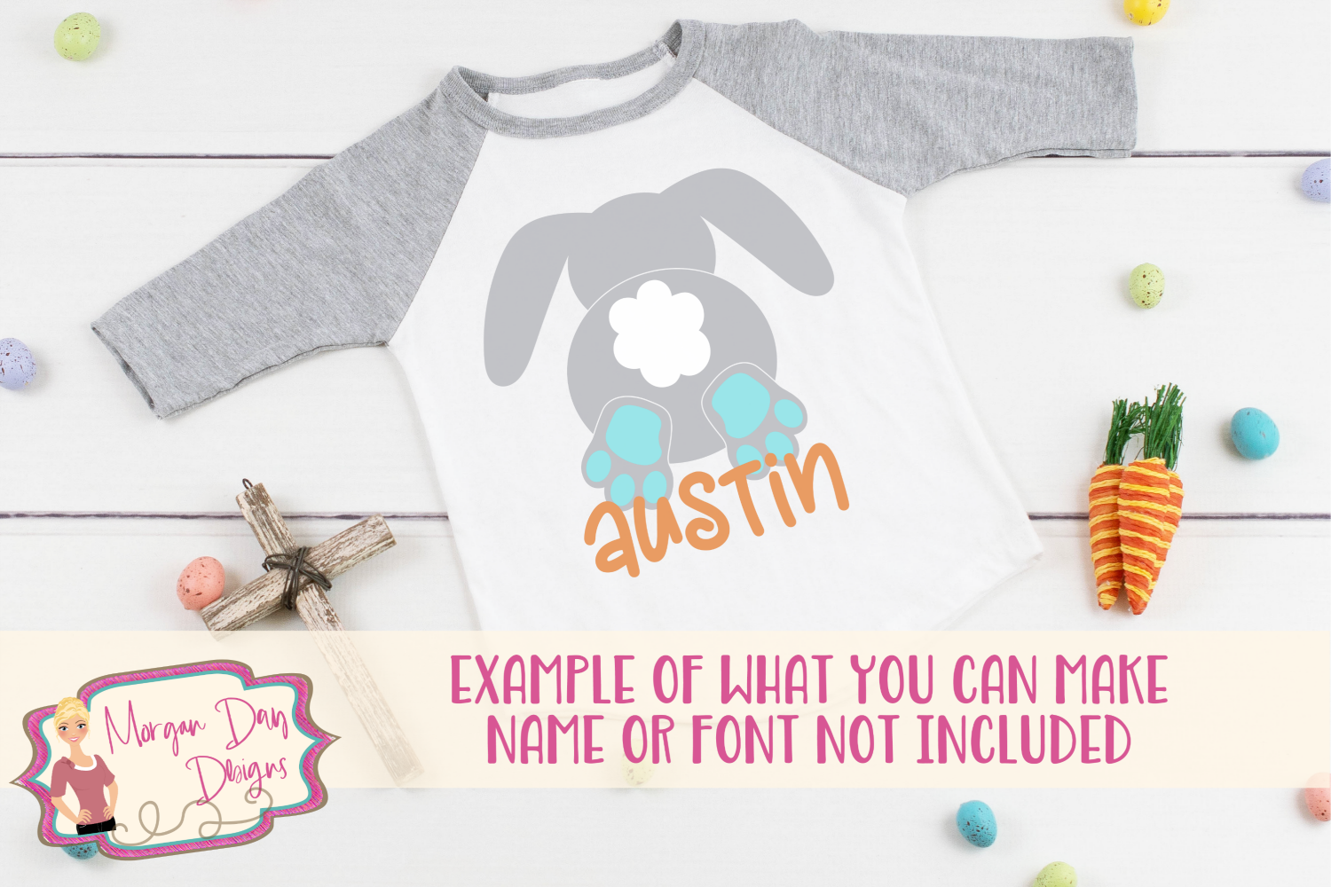 Bunny Butt - Easter SVG, DXF, AI, EPS, PNG, JPEG example image 2