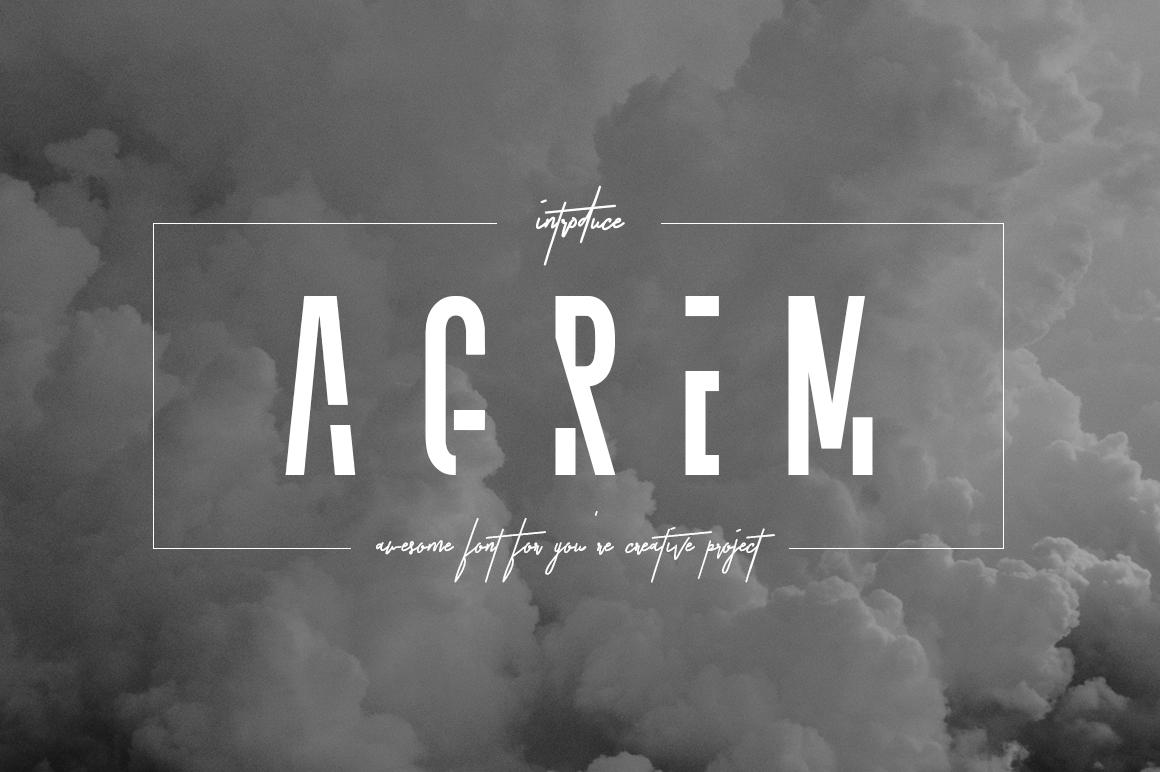 Agrem Typeface example image 1