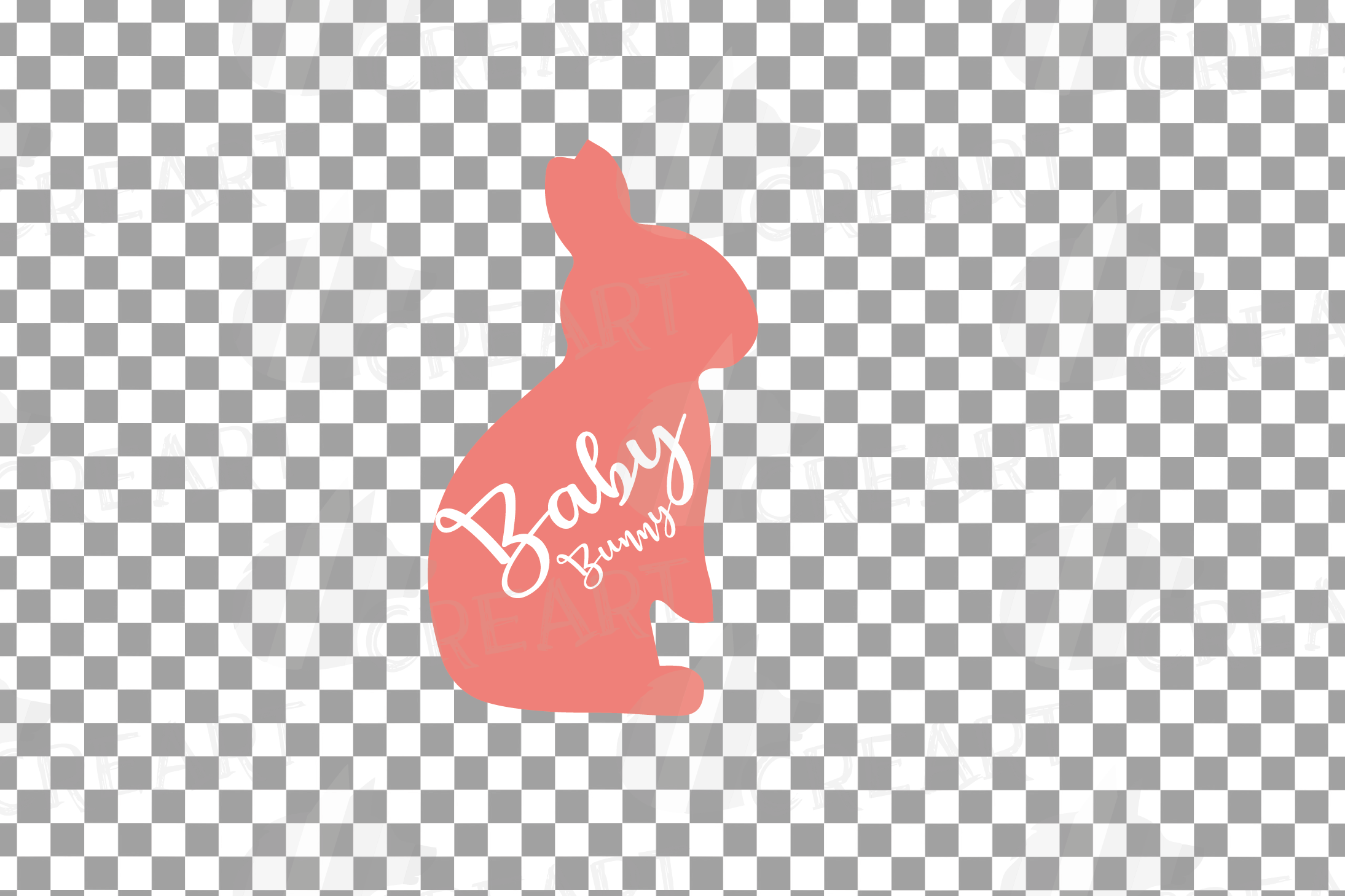 Rabbit family silhouettes, bunny silhouette svg cutting file example image 17