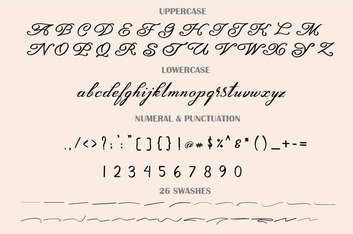 Amarillo | Elegant Calligraphy example image 8