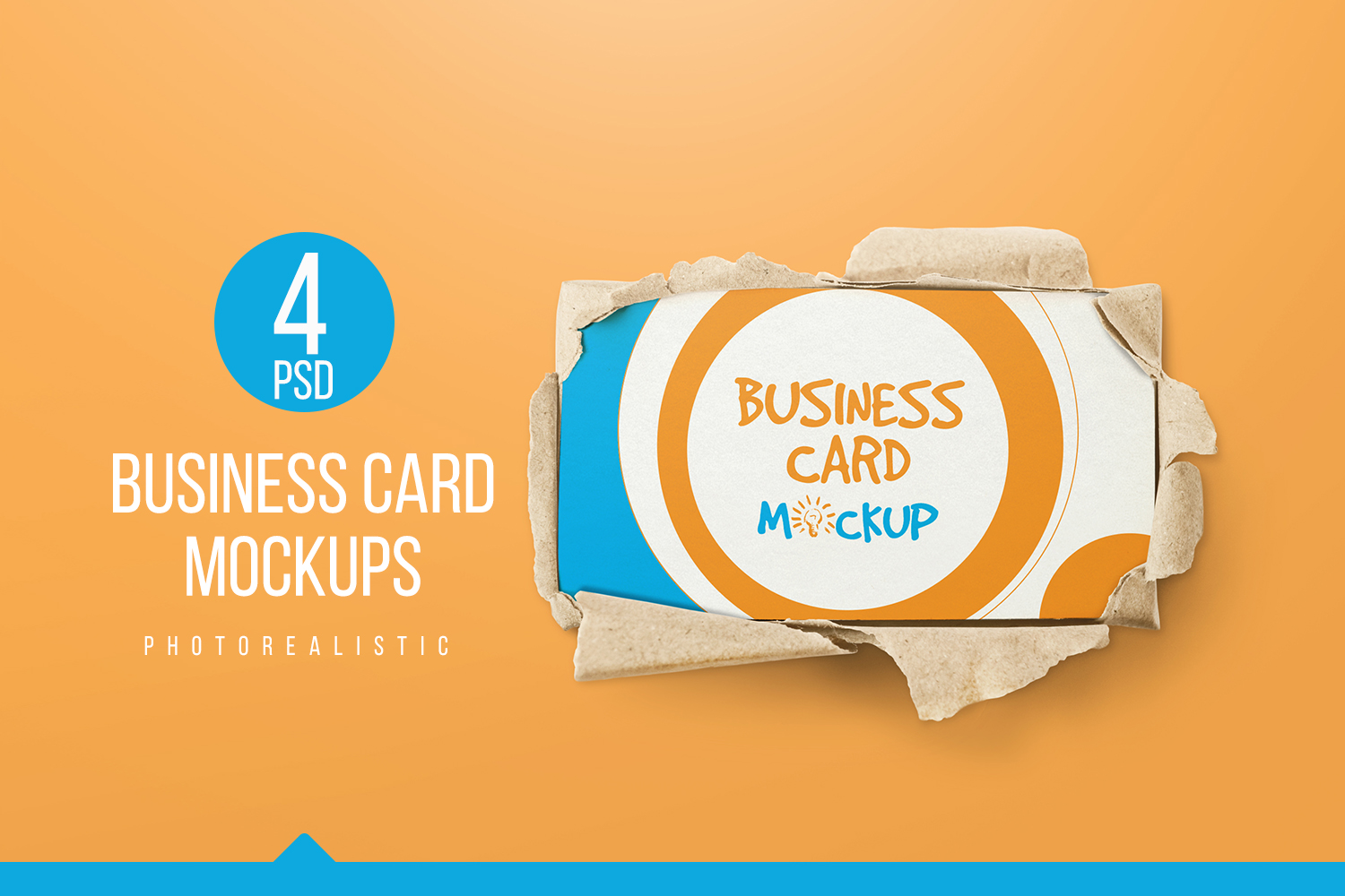 90x50 Business Card Mockups example image 1