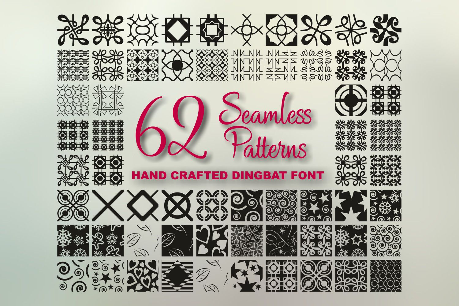 Seamless Pattern Dingbat Font example image 7