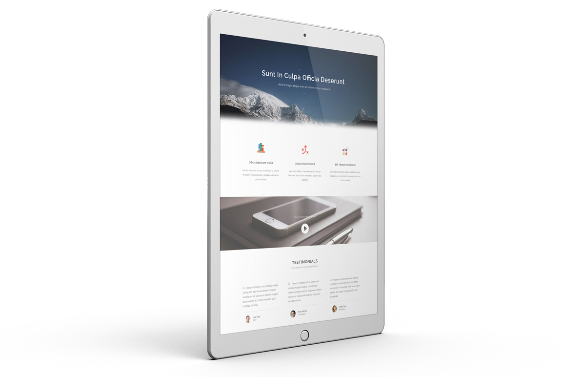 iPad Pro Mock-up vol1 example image 3