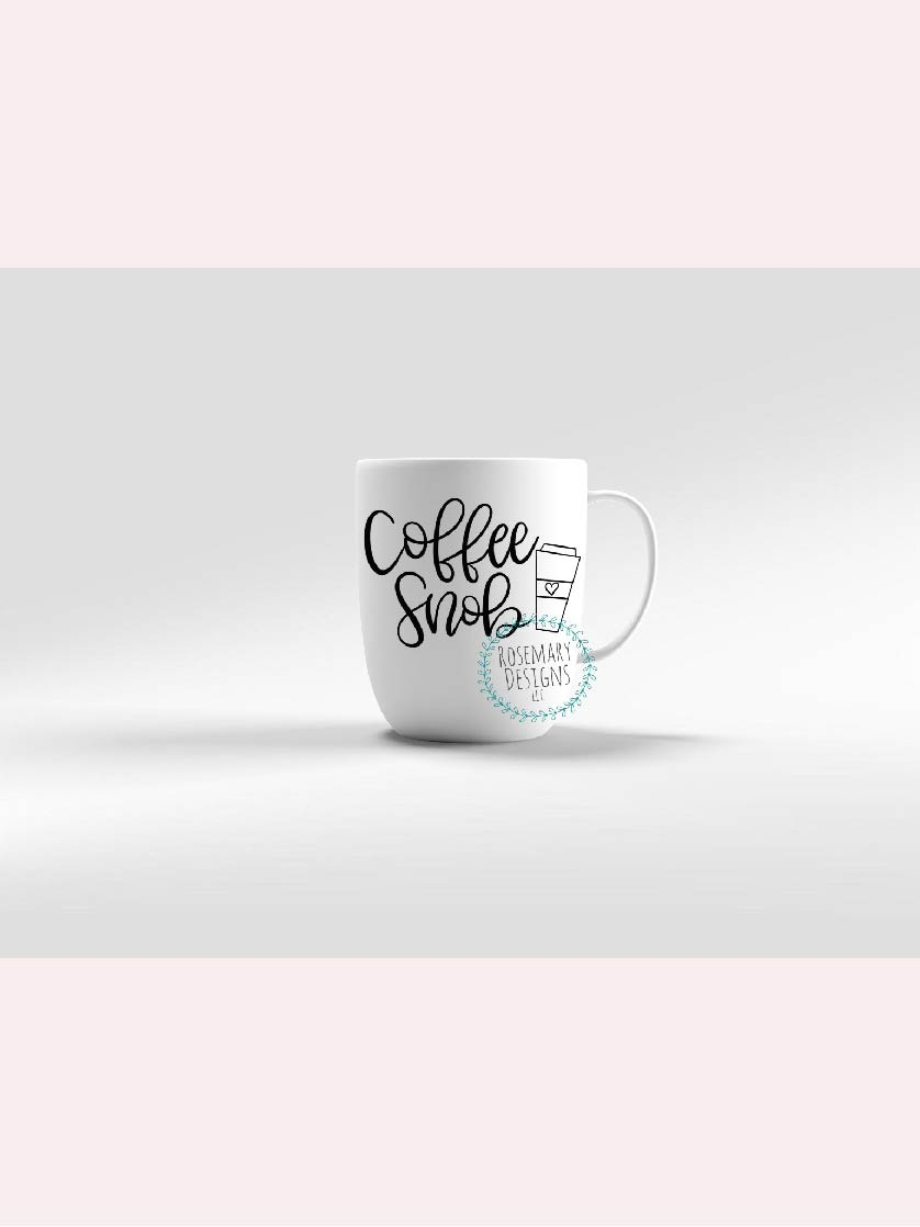 Coffee Snob  Hand lettered SVG example image 1