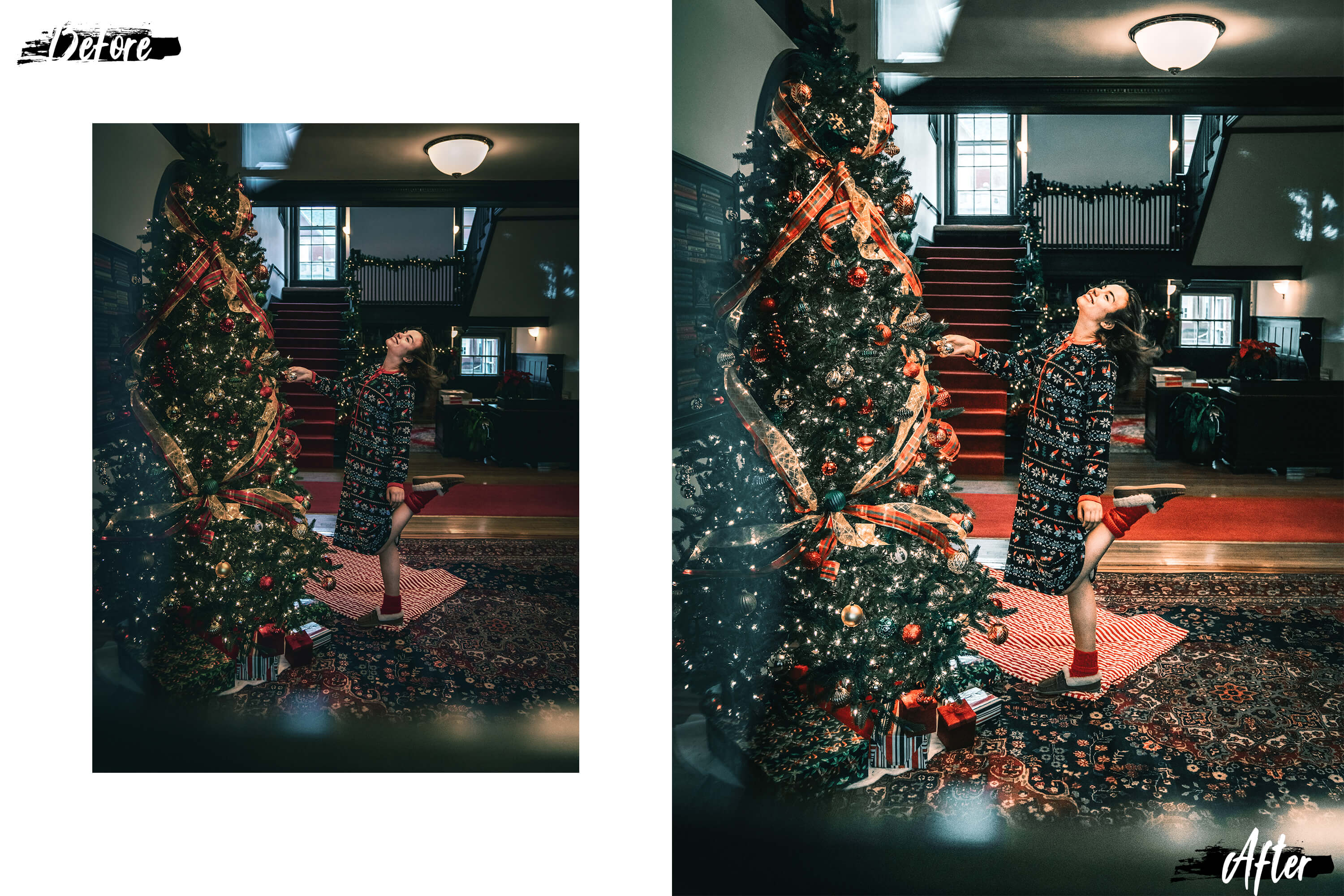 05 Christmas Eve Photoshop Actions, ACR and LUT presets example image 9