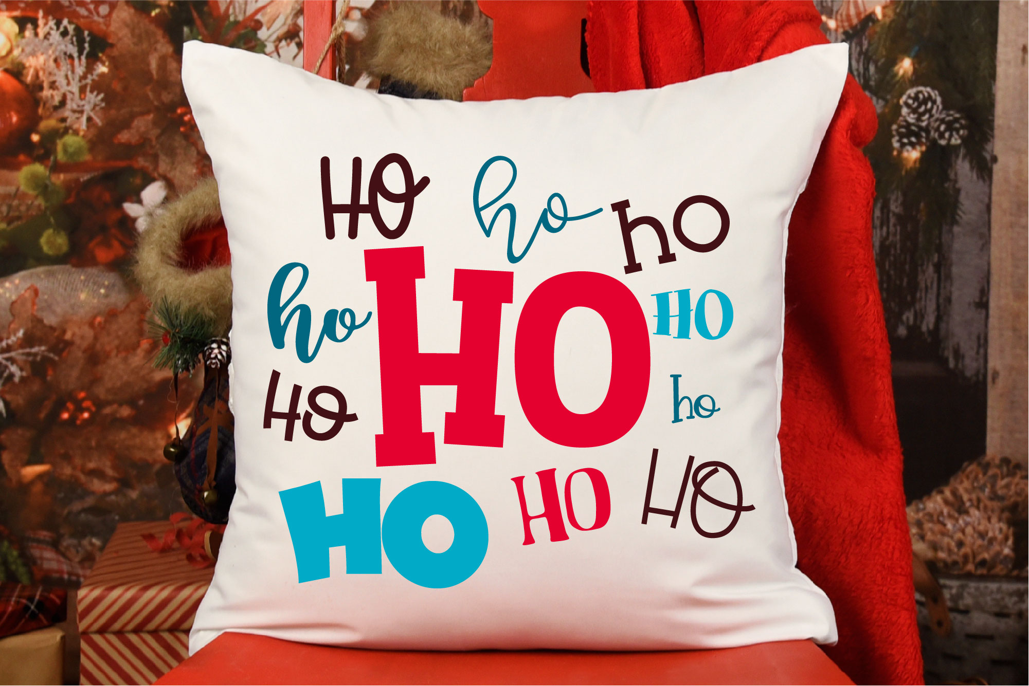 Christmas SVG, Ho Ho Ho Sublimation, Merry Christmas example image 1
