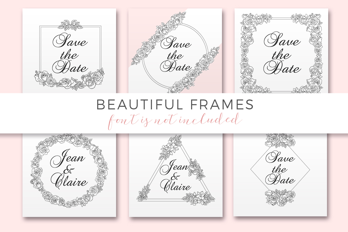 Ink Roses - Elegant roses and frames example image 8