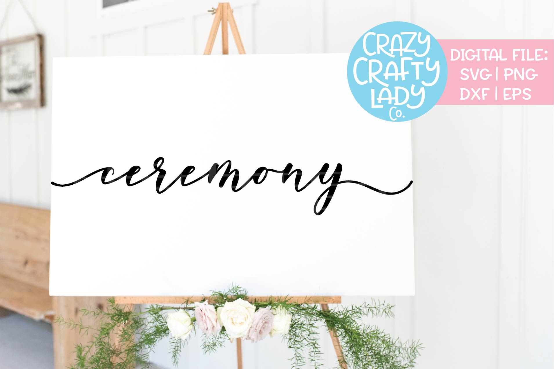 Ceremony Wedding SVG DXF EPS PNG Cut File example image 1
