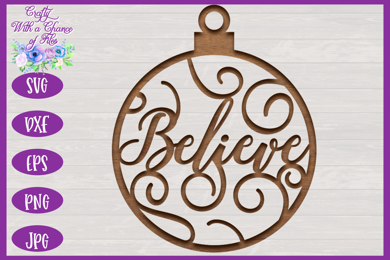 Christmas Word Ornaments SVG | Laser Cut Baubles SVG example image 4