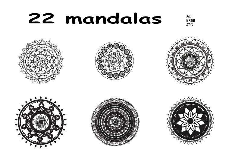 Mandalas. Round forms. example image 1