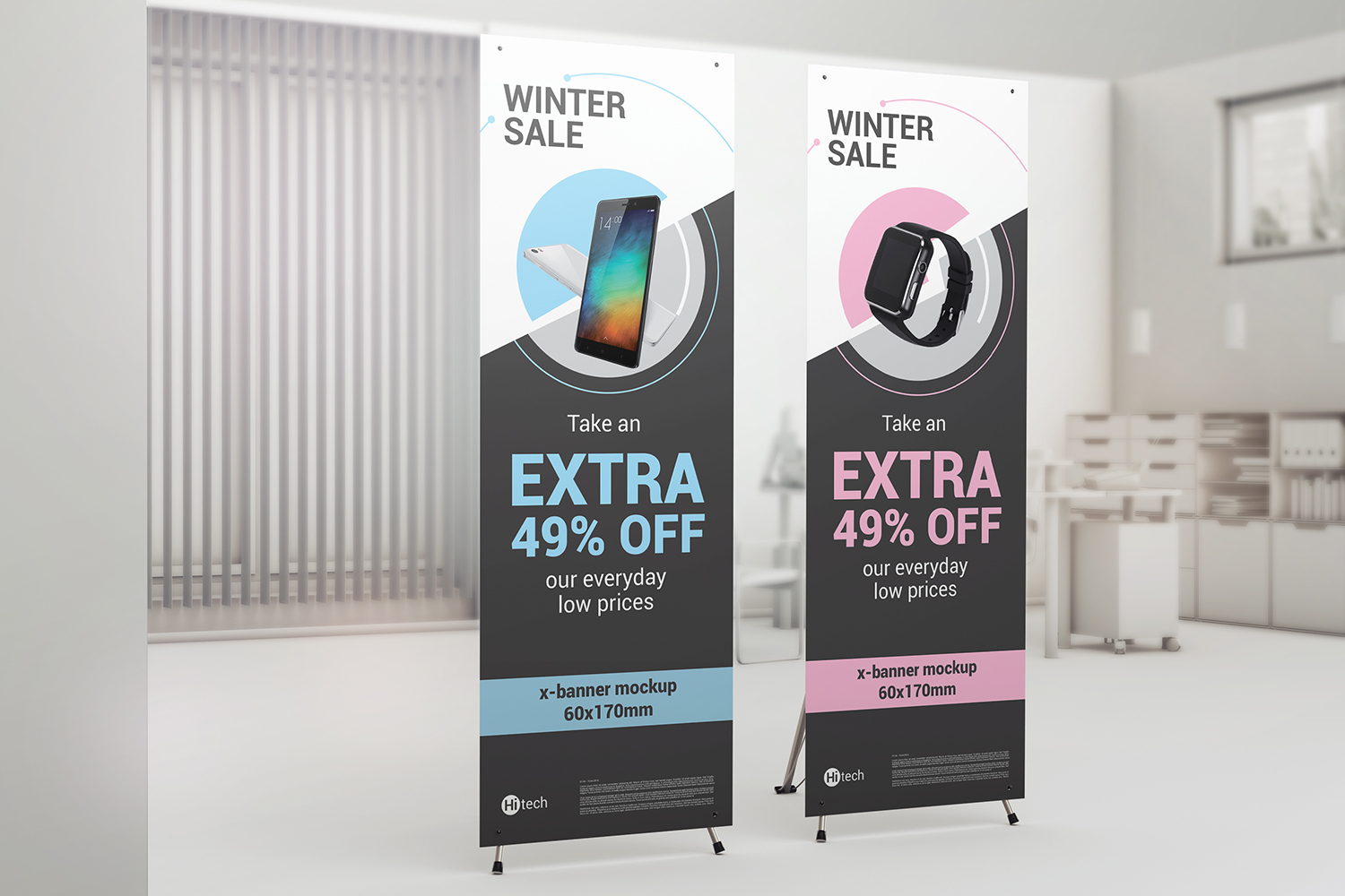 X-Stand Banner Mockups example image 5