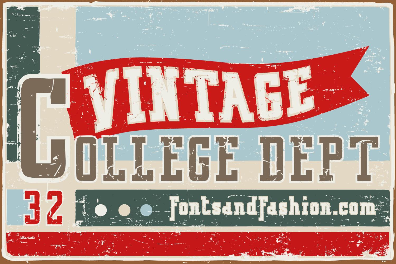 Vintage College Dept_Pack example image 6