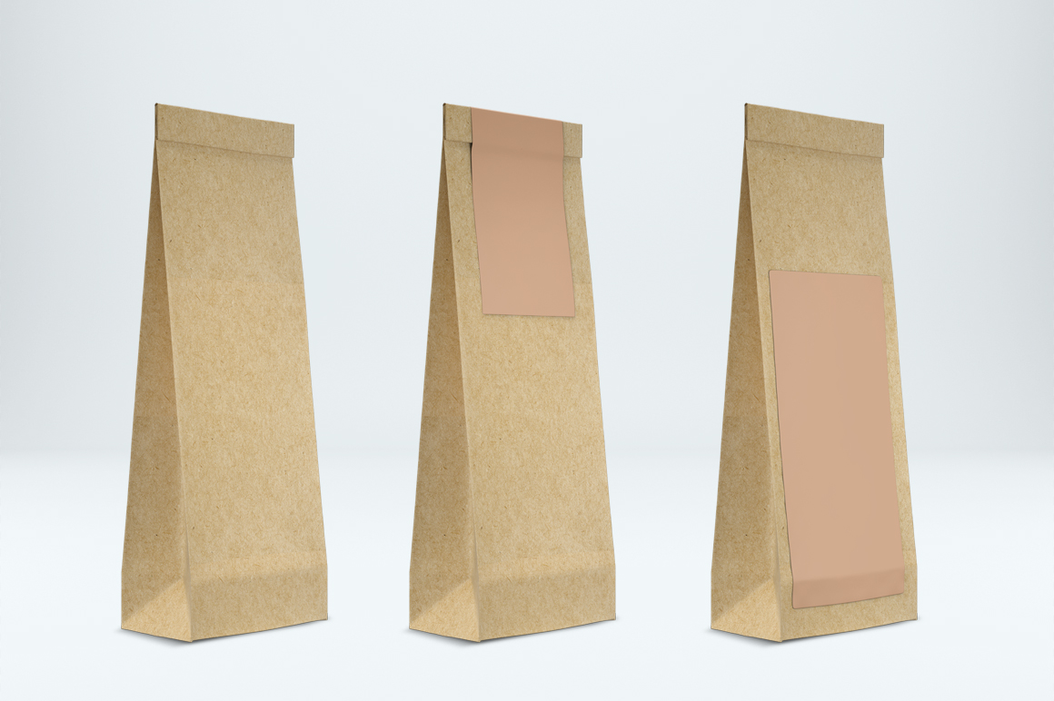 Craft paper pouch mockup. PSD mockup. PSD object mockup. example image 3