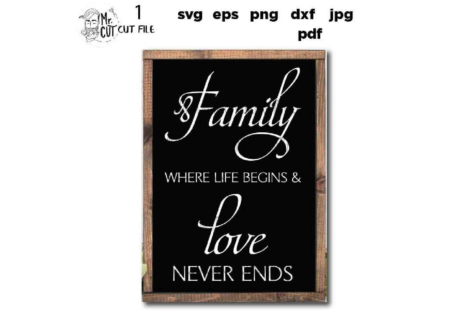 Family Where Life Begins SVG, Family SVG, Where Life Begins example image 3