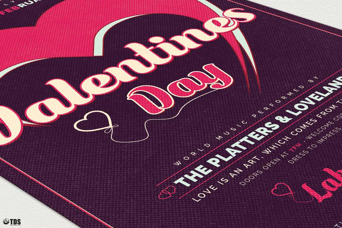 Valentines Day Flyer Template V9 example image 6