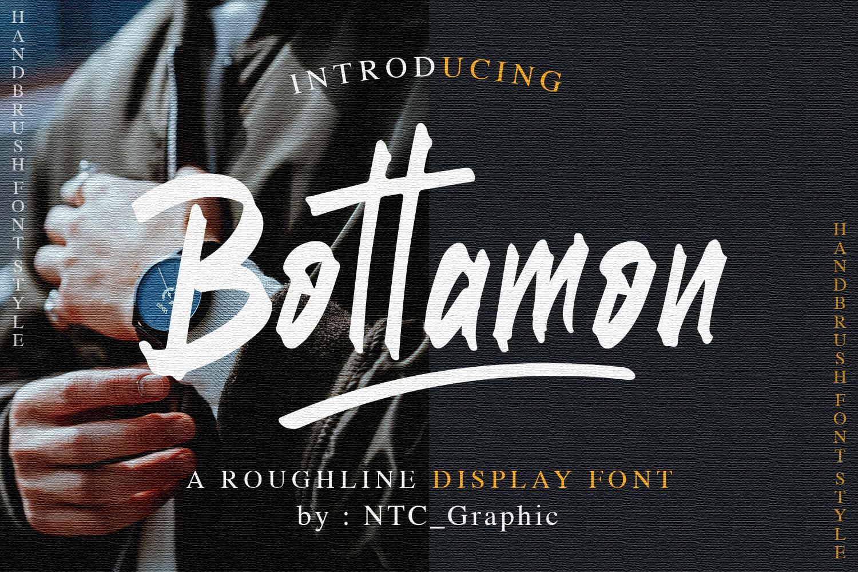 Bottamon Font Display example image 1