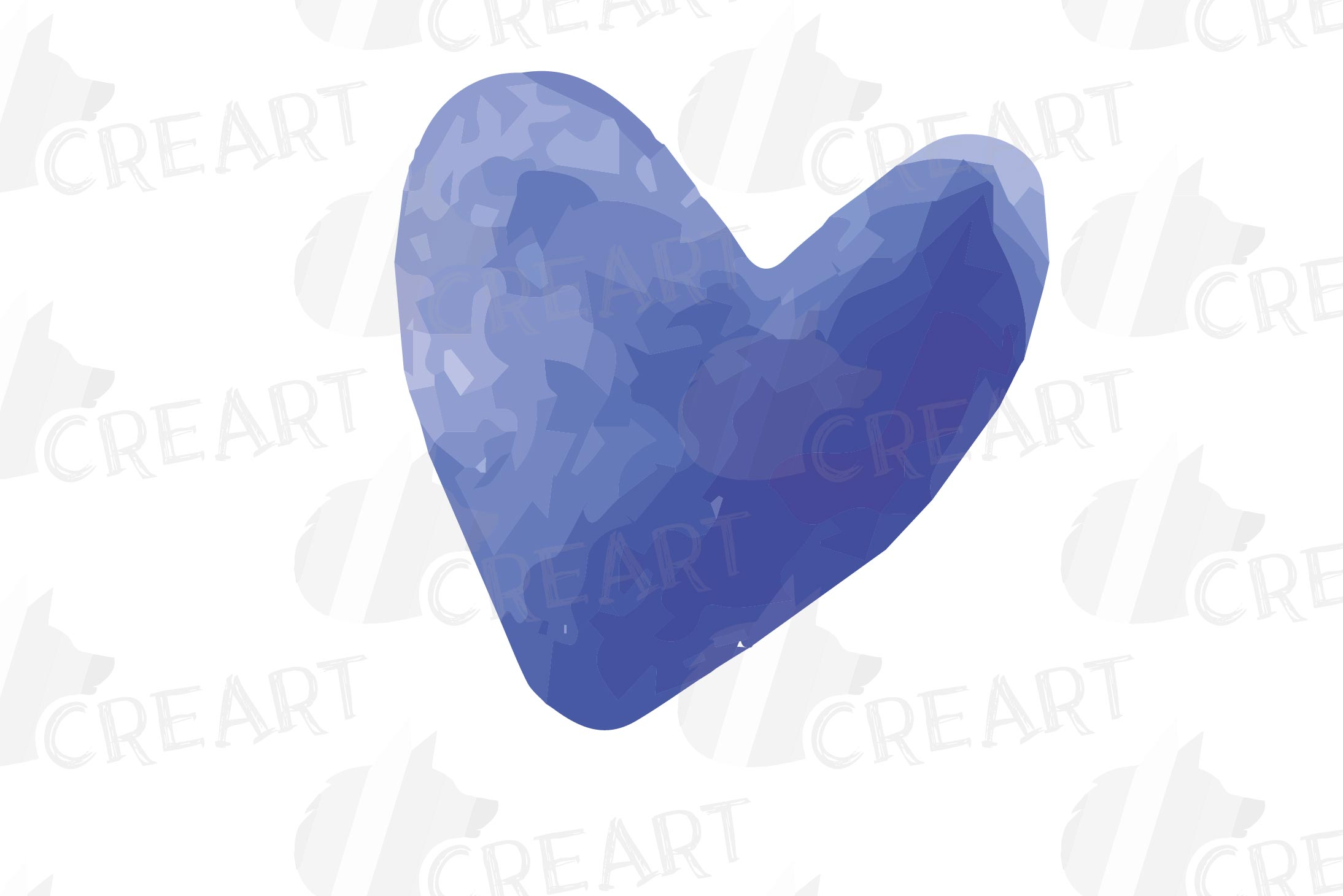 Watercolor little hearts clip art, colorful Valentine example image 13