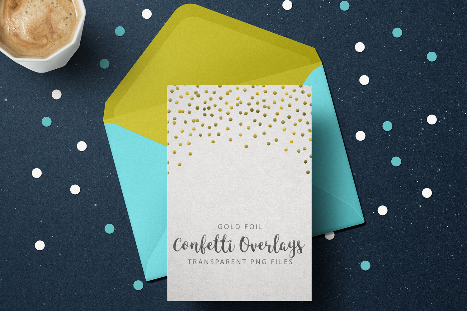 Gold Foil Confetti, Transparent PNG example image 5