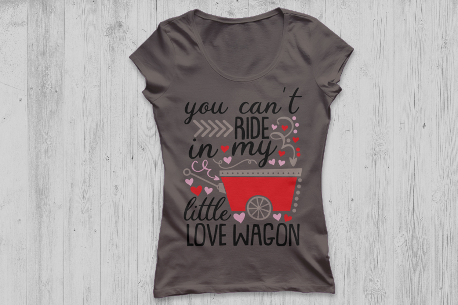 you can't ride in my little love wagon svg, valentines day. example image 3