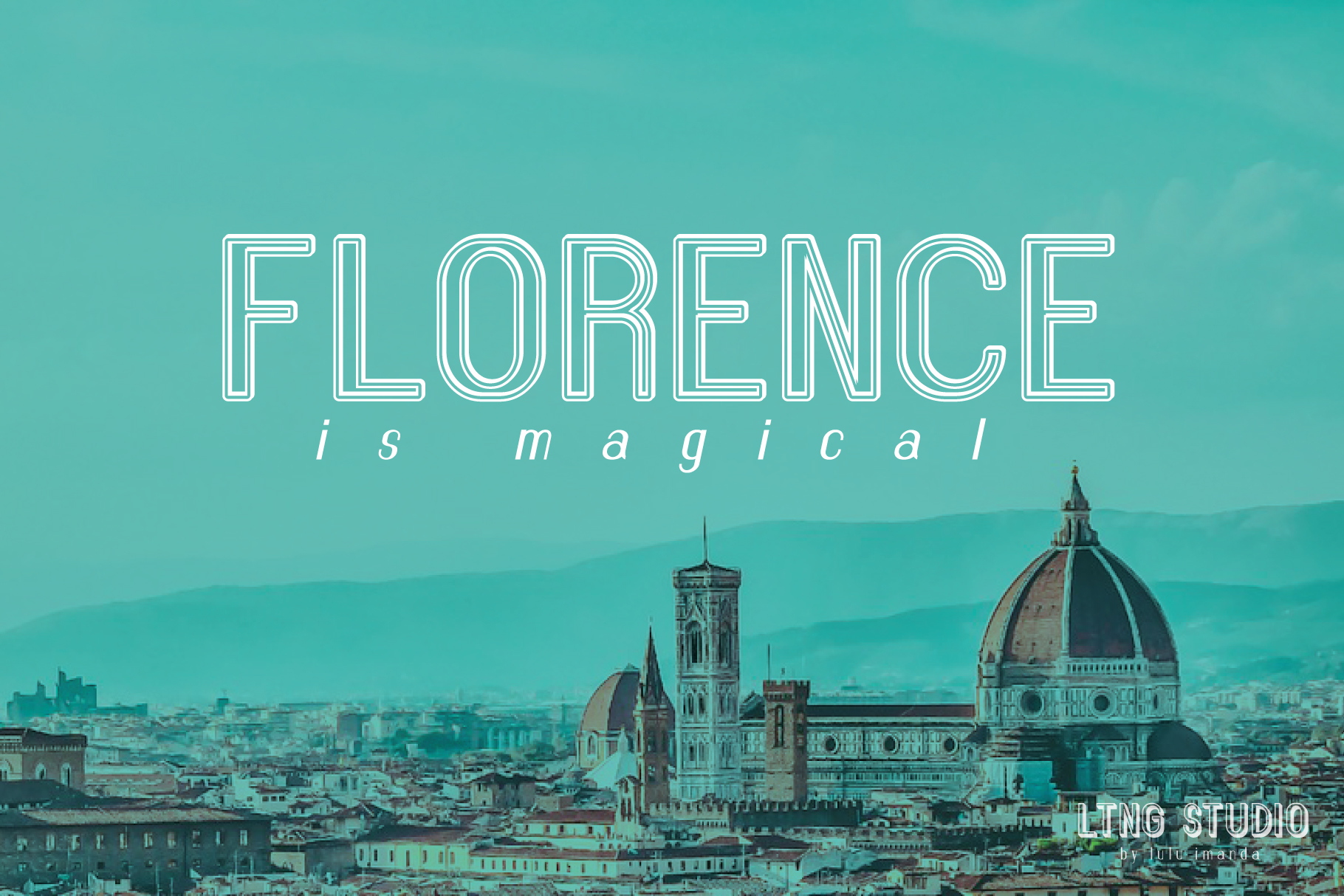 FLORENCE font family example image 6