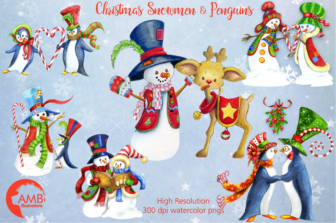 I love Christmas Bundle watercolor cliparts, graphics illustration AMB-1673 example image 3
