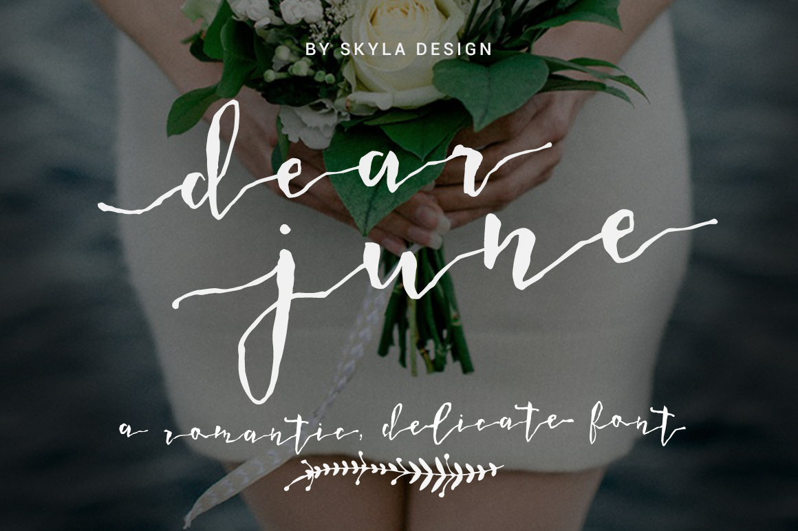 A Romantic font - Dear June example image 1