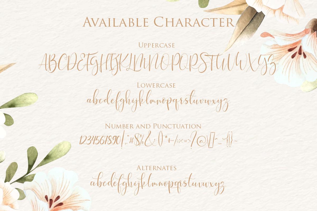 hokie   Beauty Stylistic Calligraphy example image 2