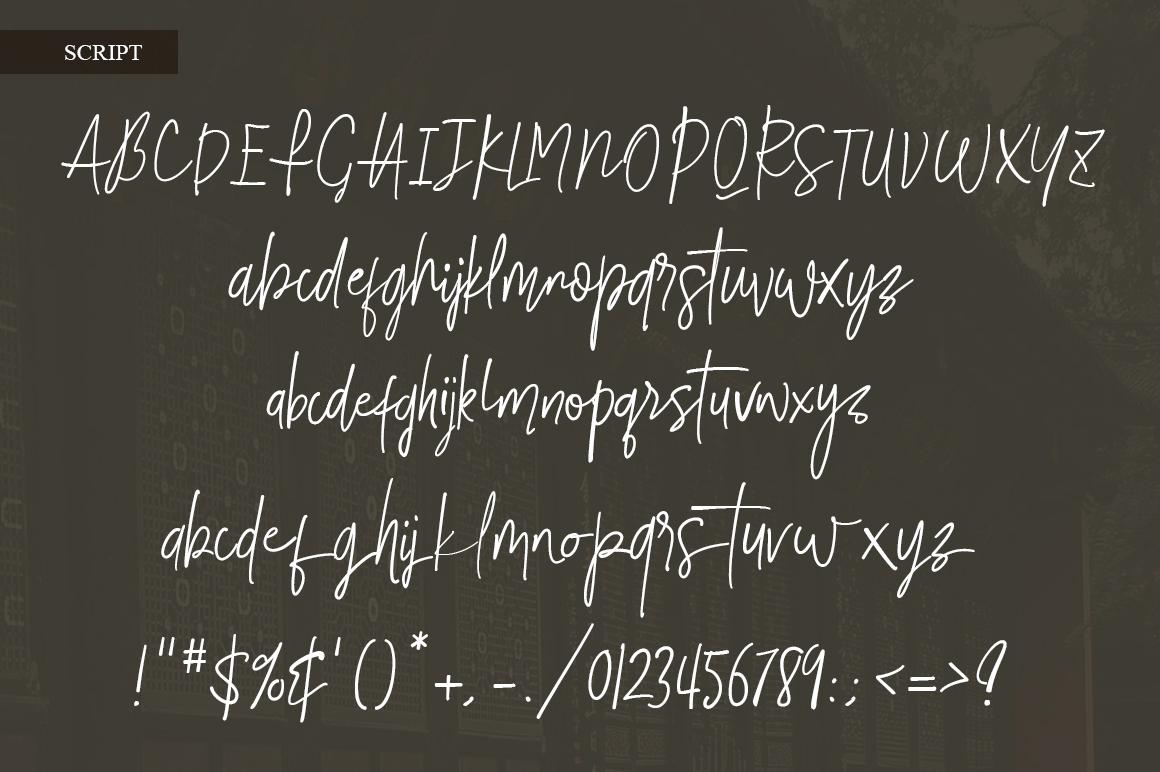 Smalltown handwritten font example image 5