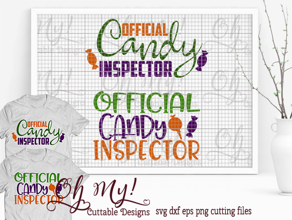 Candy Inspector - SVG Cutting File example image 1