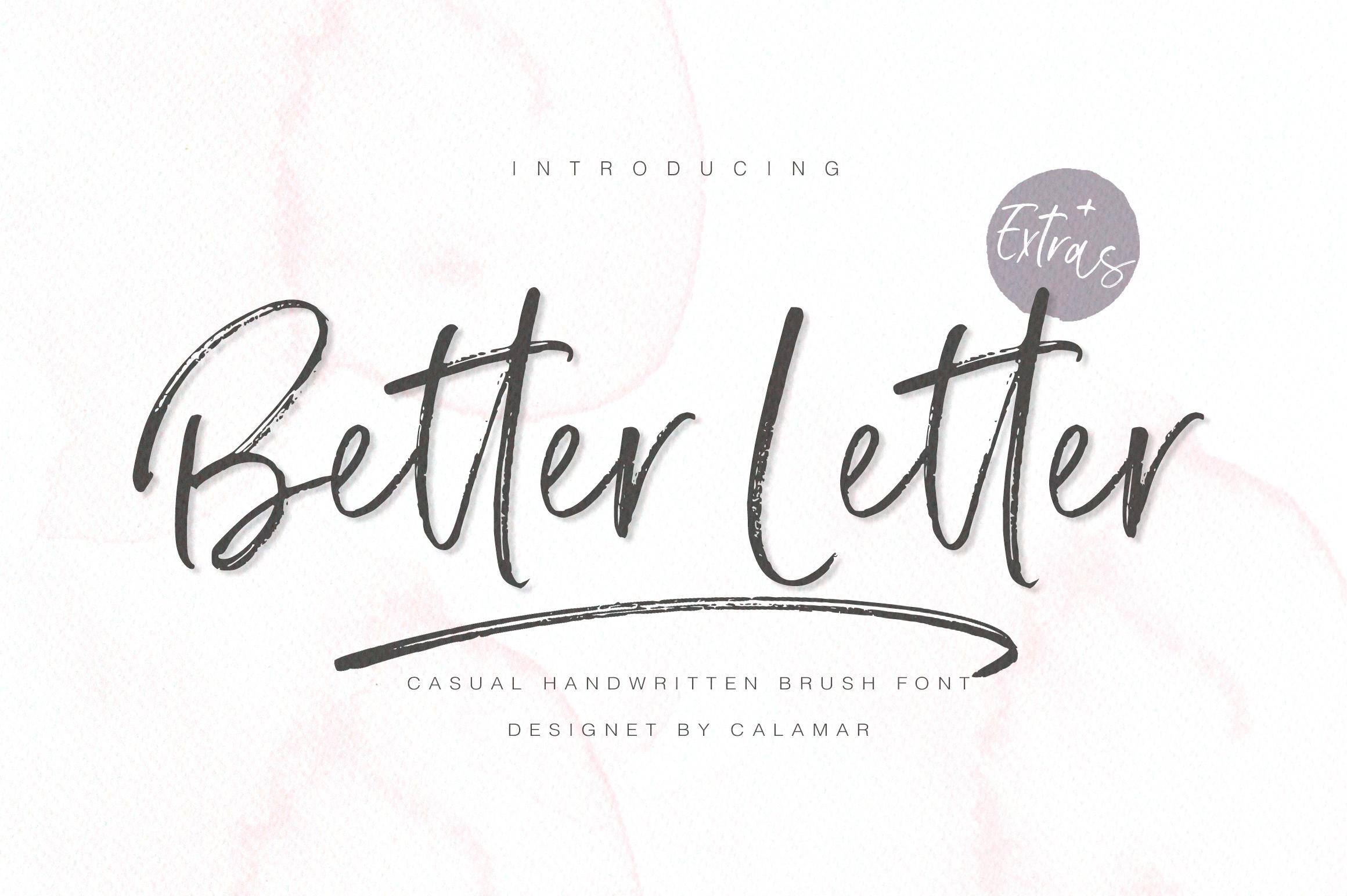 Better Letter Font example image 1