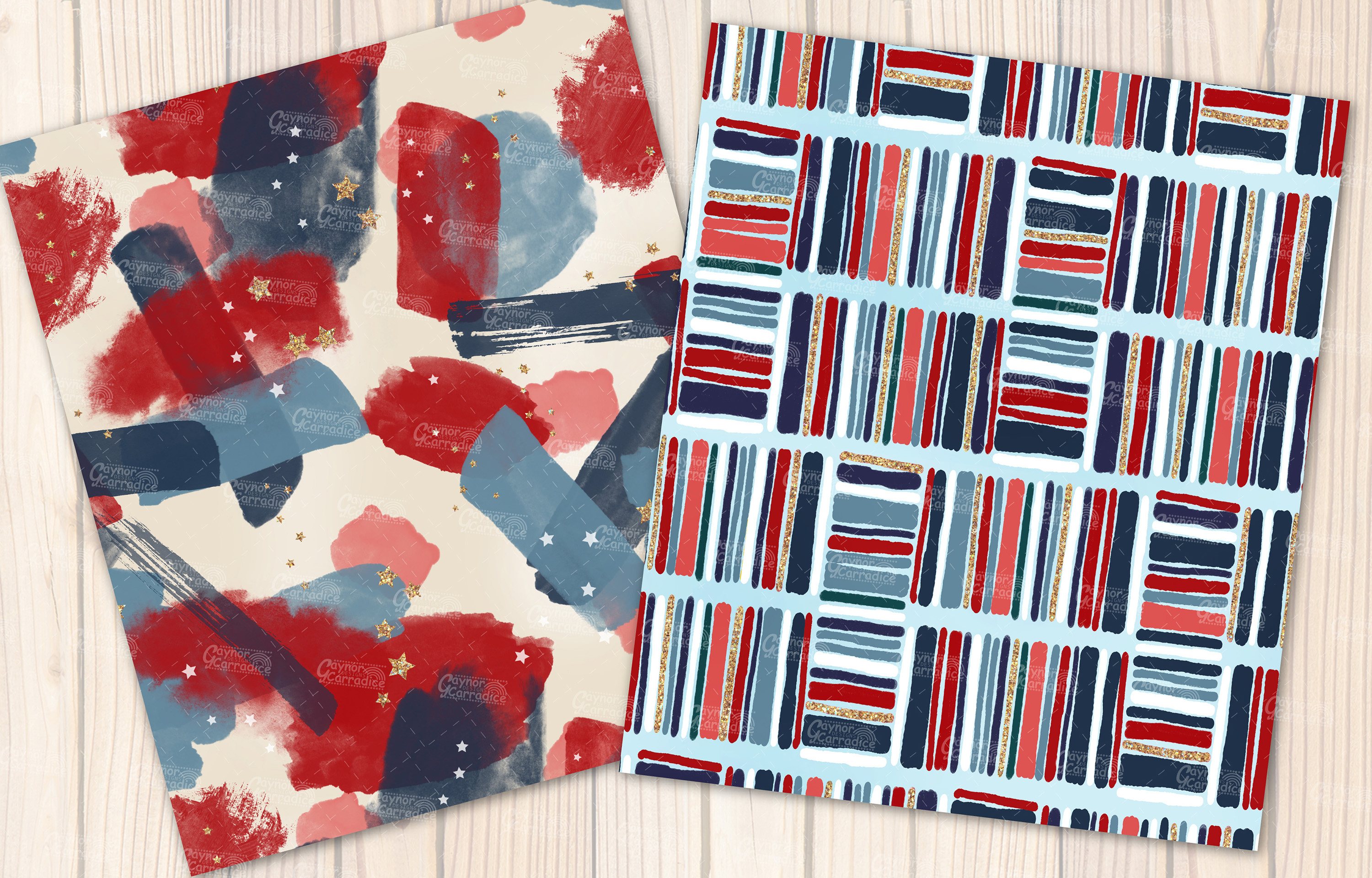 4th of July seamless pattern collection example image 7