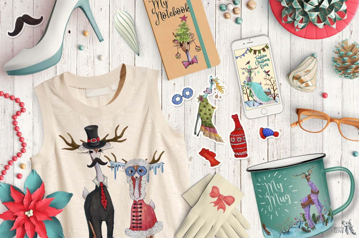 Fashion Christmas Deers Creator example image 4