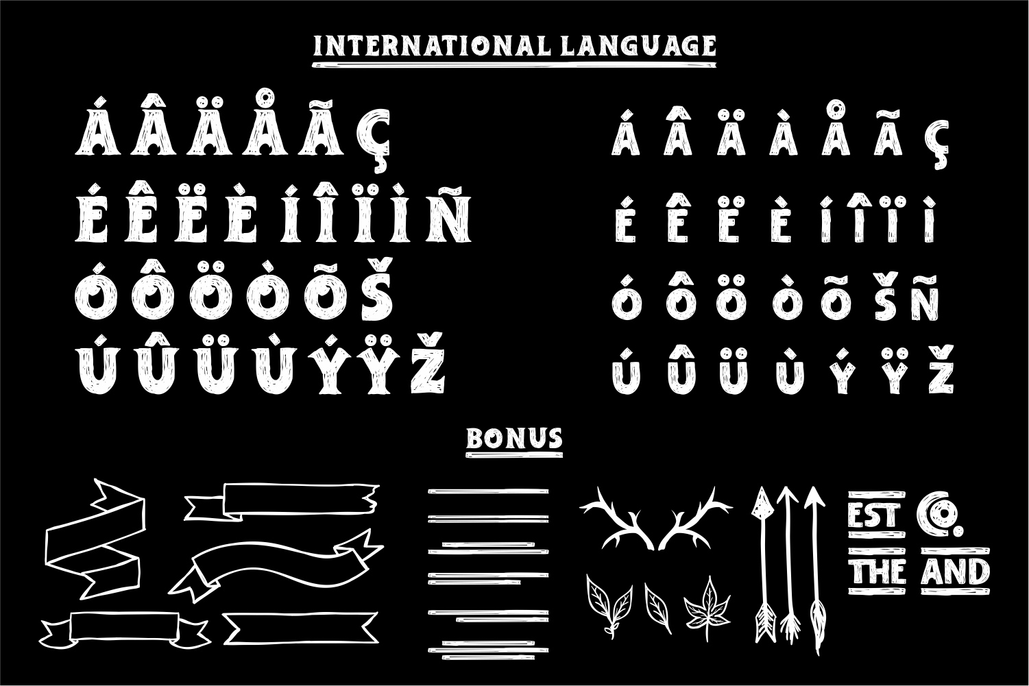 Adelard Scratches Font example image 5