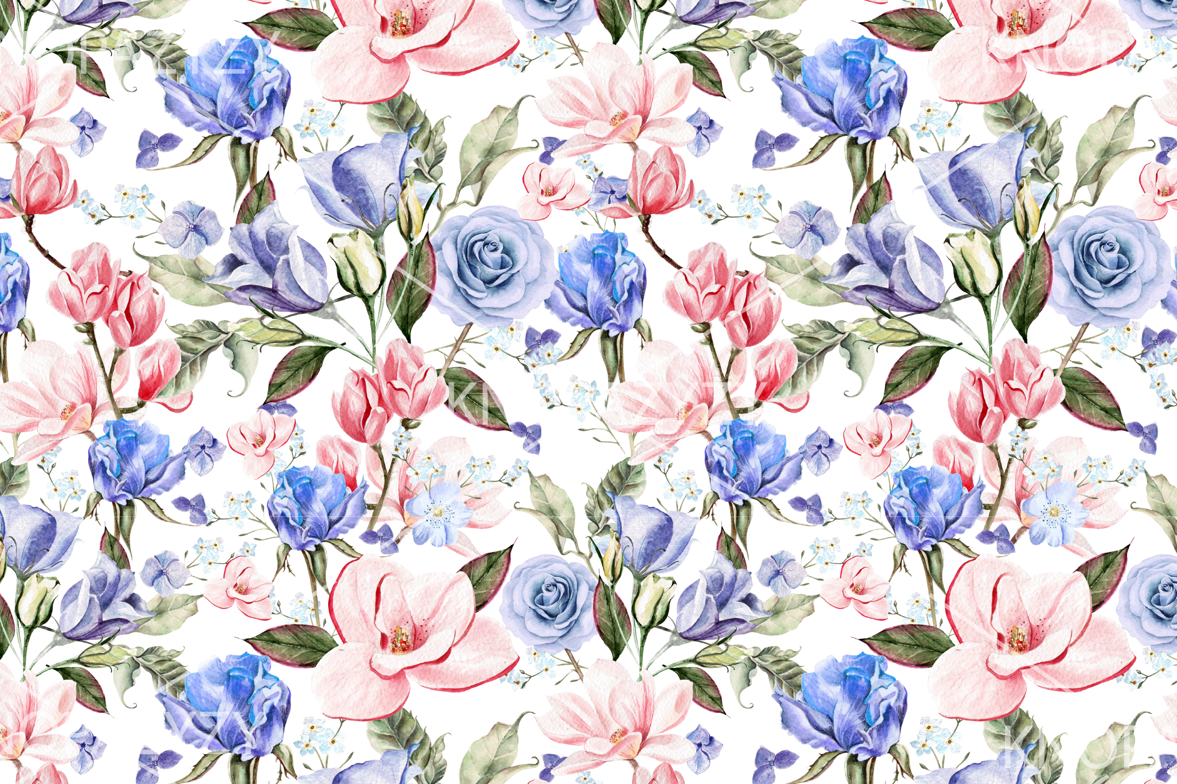 7 Hand Drawn Watercolor PATTERNS example image 5